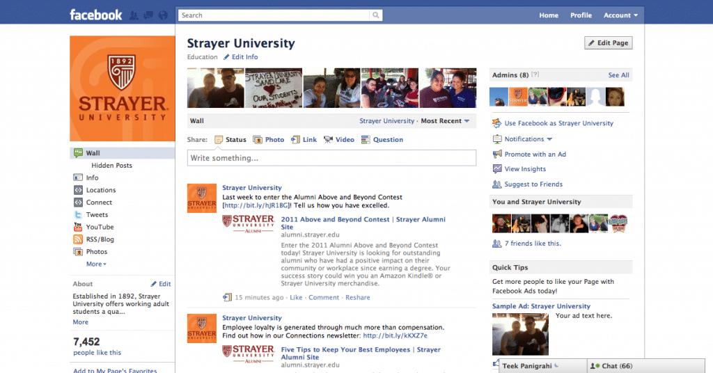 Strayer U Facebook