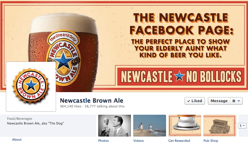 Newcastle Facebook Page